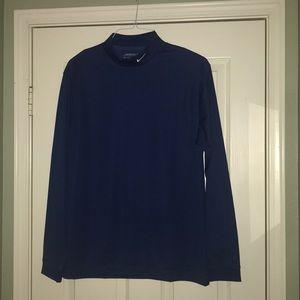 Nike Shirts - Nike Blue Mock Turtle Neck Sports Top